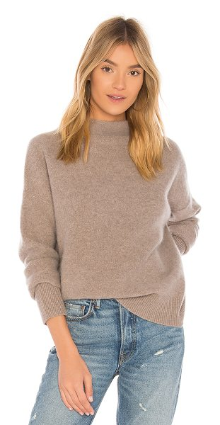 VINCE Funnel Pullover - 100% cashmere. Dry clean only. Knit fabric. Rib knit...