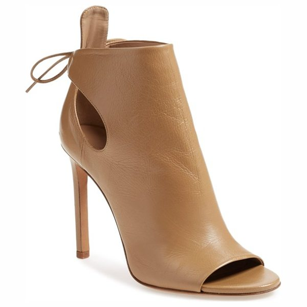 VINCE 'gabbrielle' open toe bootie - Curvaceous cutouts at the counter secured by a delicate...