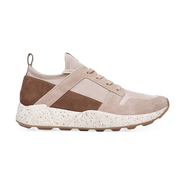 Vince galvin chunky mixed-media sneakers in sand