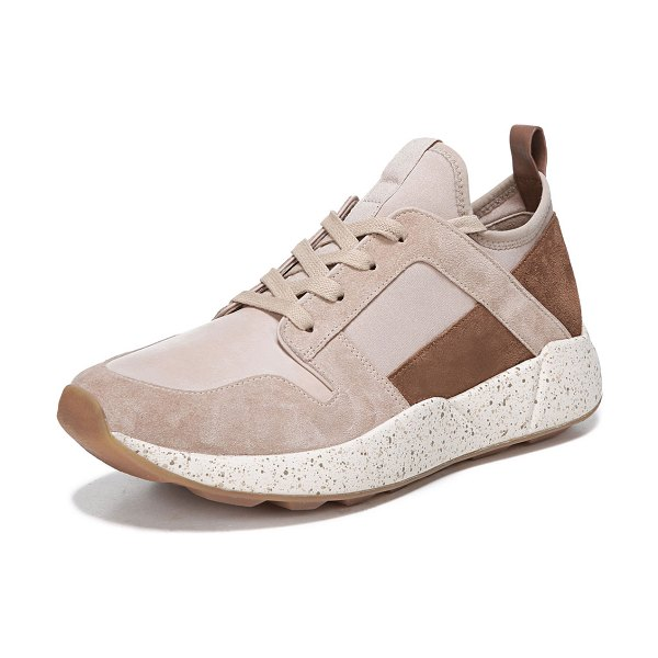 Vince Galvin Suede/Leather Trainers in sand multi