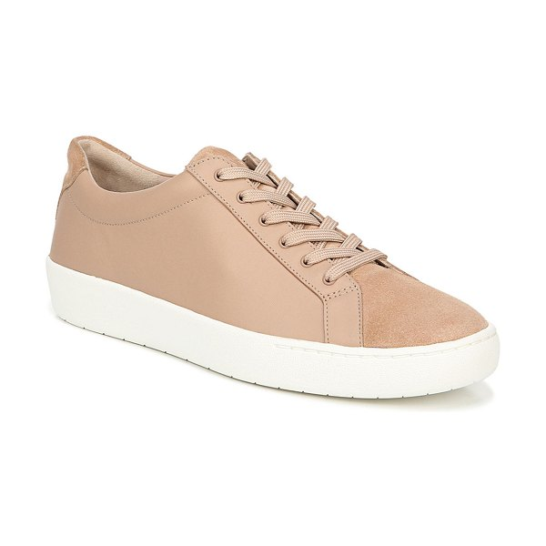 Vince Janna Suede & Leather Low-Top Sneakers in pink