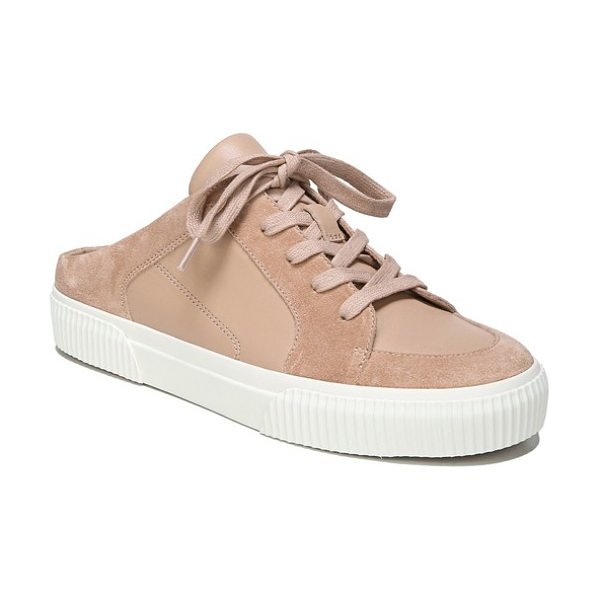 Vince kess slip-on sneaker in apricot - A classic sneaker with suede detailing gets a fresh look...
