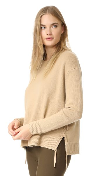 VINCE lace up sweater - Thin ties lace up the sides of this warm Vince sweater....