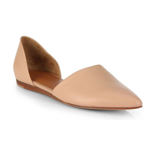 Vince Leather d'orsay flats in cafe - Minimalist and chic low-cut design in supple leather...