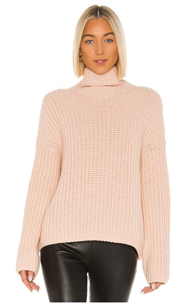 Vince lofty rib turtleneck in peach sorbet