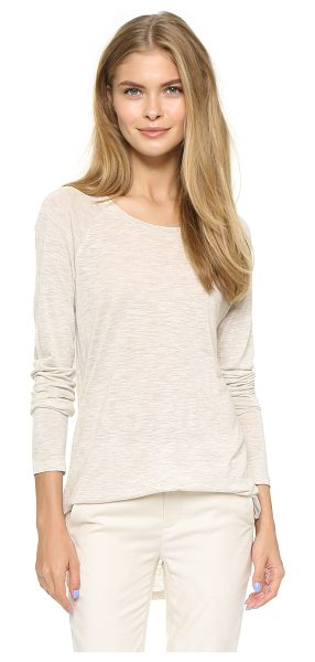 VINCE Long sleeve space dye crew tee - A heathered jersey Vince tee has long raglan sleeves and...
