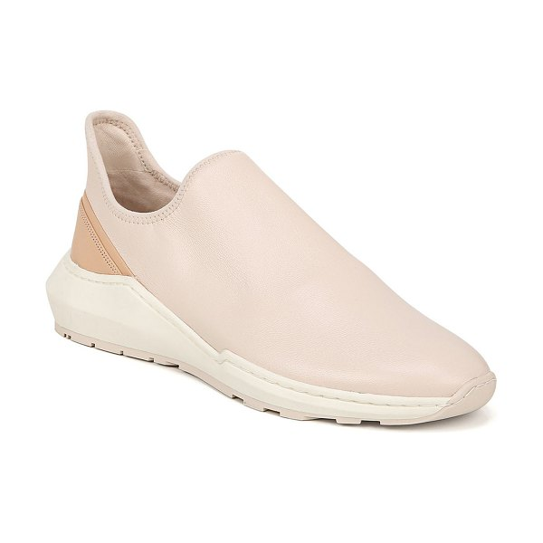 Vince Marlon Leather Slip-On Sneakers in sand