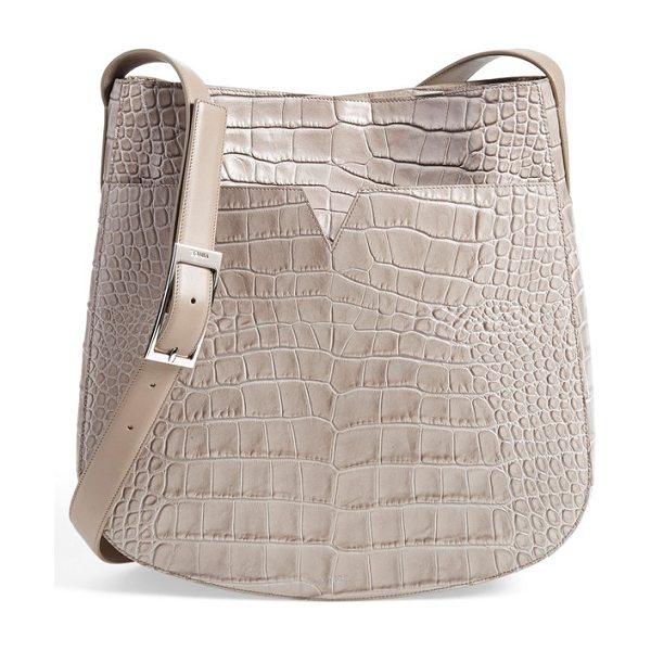 VINCE Medium croc embossed leather crossbody bag - Dramatic croc embossing amplifies the uptown elegance of...