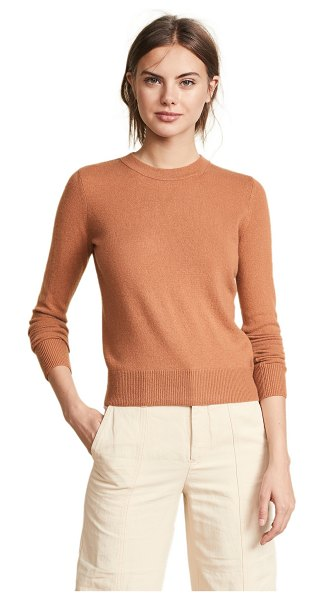 Vince overlay cashmere sweater in light copper - Fabric: Fine knit Pullover style Waist-length style Crew...