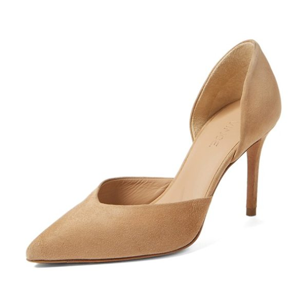 VINCE paulette dorsay pump in sand leather - Timeless aesthetics meet modern sophistication in...
