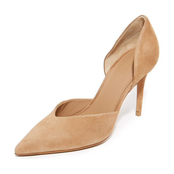 Vince Paulette Pumps in sand - Luxe suede Vince pumps in a refined, pointed toe...