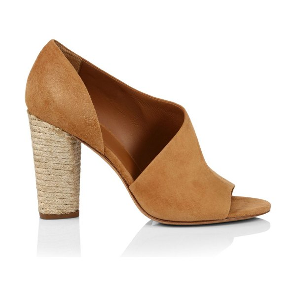 Vince percey suede espadrille sandals in tan
