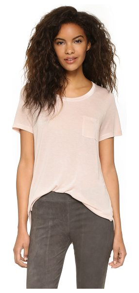 Vince Pocket tee in new buff - A slouchy Vince tee in a relaxed boyfriend silhouette....