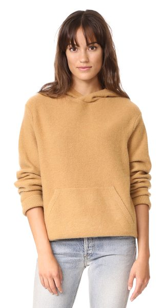 Vince pullover cashmere hoodie in butterscotch - This luxurious cashmere Vince hoodie feels extra cozy...