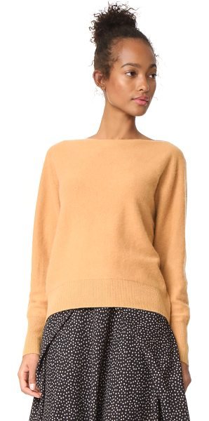 Vince raglan cashmere sweater in butterscotch - Soft cashmere composes this relaxed Vince sweater. Boat...