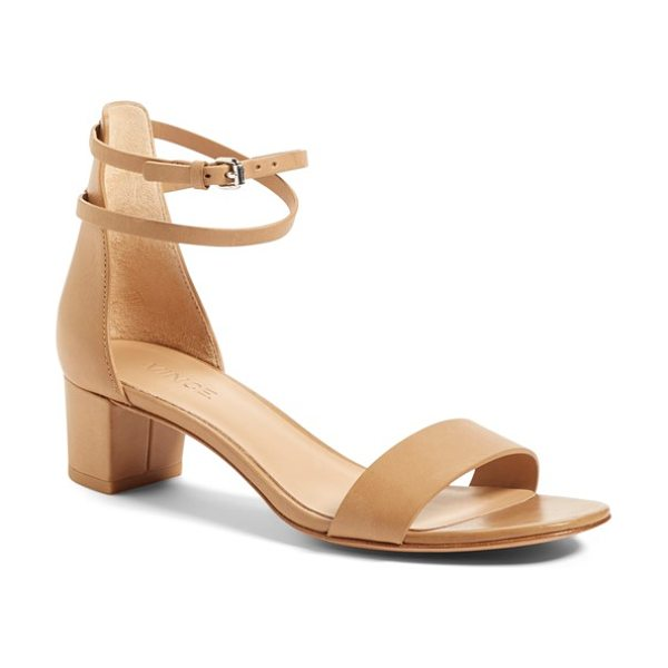 Vince rianne ankle strap sandal in sand - A slender double ankle strap tops a streamlined sandal...