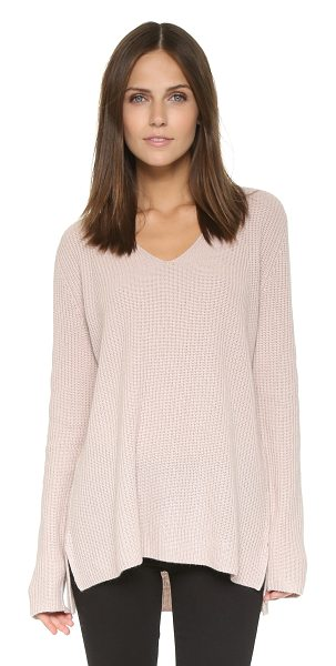 Vince Ribbed cashmere pullover in new buff - A slouchy Vince sweater feels relaxed, yet luxurious,...