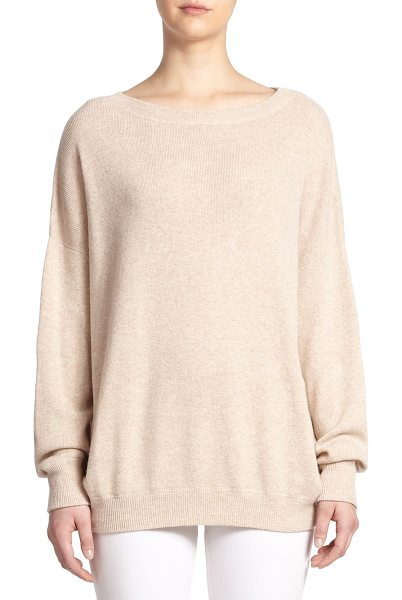 Vince Ribbed cashmere sweater in heatherkhaki - Crafted in luxurious cashmere, this oversized ribbed...