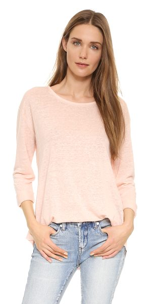 Vince Rolled sleeve tee in rose water - A lightweight Vince tee in a relaxed, oversized...