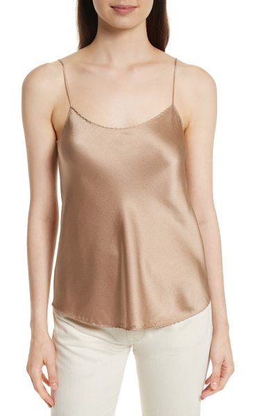 Vince scallop satin camisole in camel - This simple yet oh-so-chic cami boasts a luxurious silk...