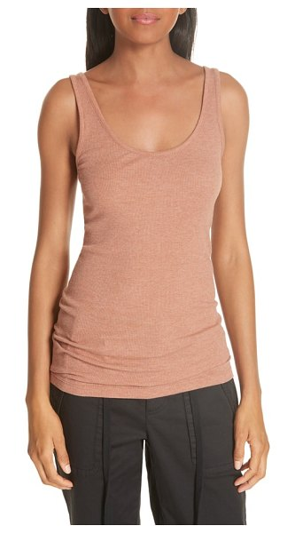 Vince scoop neck tank in pink - A layering essential, this slim tank feels wonderful...