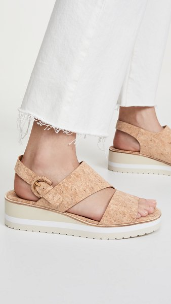 Vince shelby wedge sandals in natural