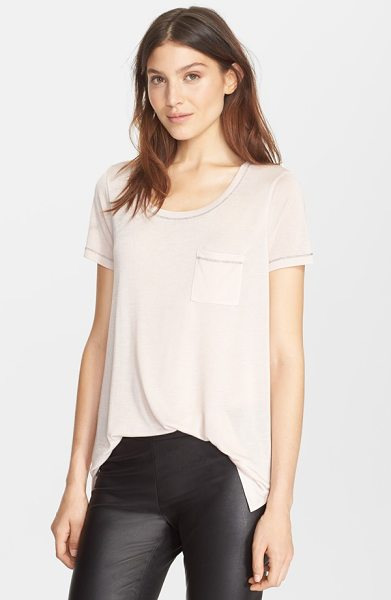 Vince short sleeve pocket tee in new buff - Coast through your day in a fluid slouchy tee with a...