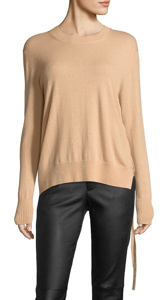 "Vince Side-Tie Crewneck Cashmere Sweater in pink - Vince cashmere sweater. Approx. 23.5""L down center back...."