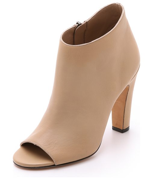 Vince Sierra open toe booties in nude - Versatile leather Vince booties with an open toe and...