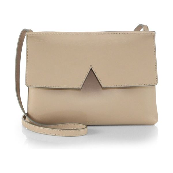 VINCE signature collection baby crossbody bag in nude - EXCLUSIVELY AT SAKS IN BORDEAUX. Crafted from sleek...