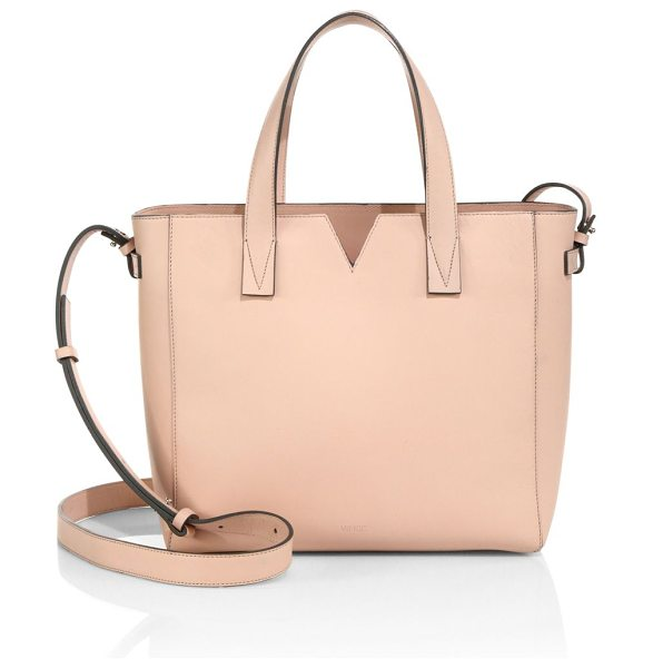Vince Signature baby leather east-west tote in blush - EXCLUSIVELY AT SAKS IN LUGGAGEVersatile Italian leather...