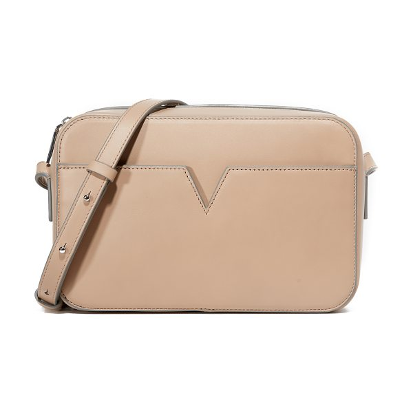 Vince Signature camera bag in nude - A sophisticated Vince bag detailed with a notched front...