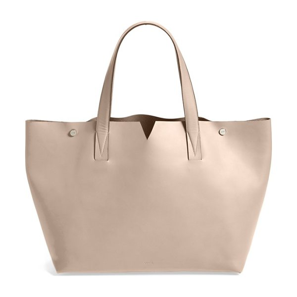 Vince Signature collection leather tote in new stone - Designed with a distinctive envelope construction using...