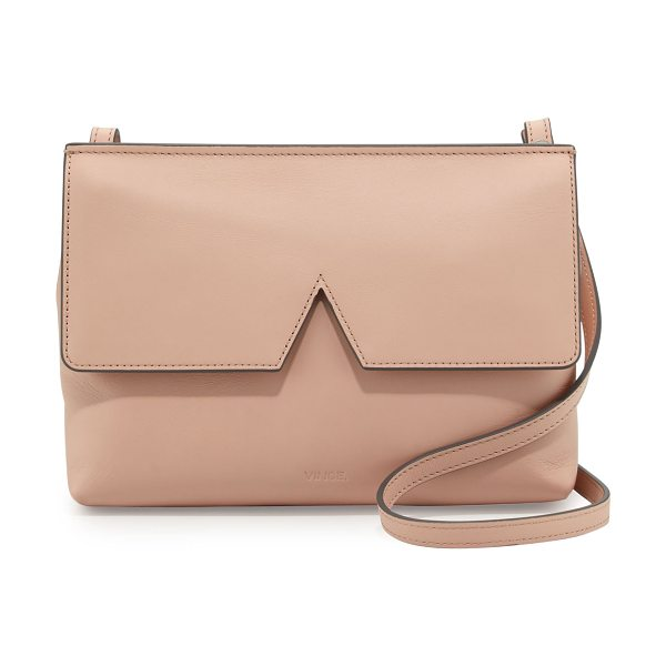 Vince Signature v leather baby crossbody bag in blush