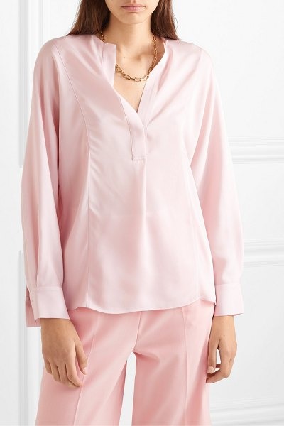 Vince silk crepe de chine blouse in pink