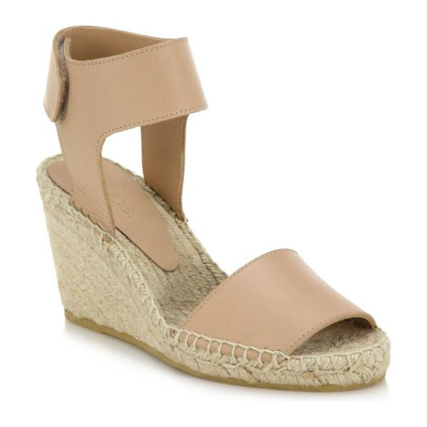 Vince Sophie leather espadrille wedge sandals in nude - Vince adds a modern, city-chic twist to bohemian-cool...