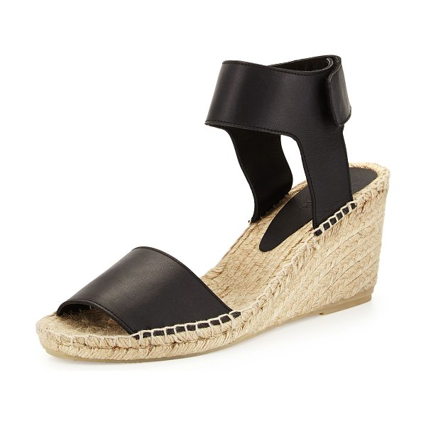 "VINCE Sophie Leather Espadrille Wedge - Vince espadrille sandal with leather upper. 3.5""..."