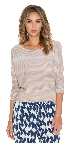 Vince Spacedye boatneck top in tan - 100% cotton. VINCE-WS786. V2645 76083. Founded in 2011,...
