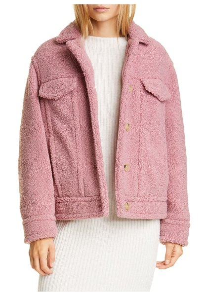 Vince teddy jacket in pink