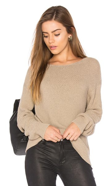 Vince Textured Pullover in beige - Cotton blend. Hand wash cold. Knit fabric. VINCE-WK373....