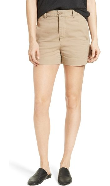 Vince utility short in khaki - Ready for off-duty adventures, relaxed shorts are cut...