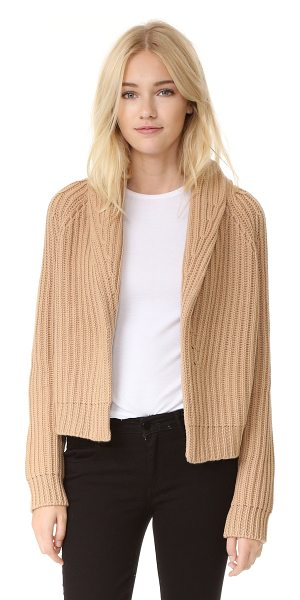 VINCE crop cardigan sweater - A shawl collar frames the open placket on this cropped,...