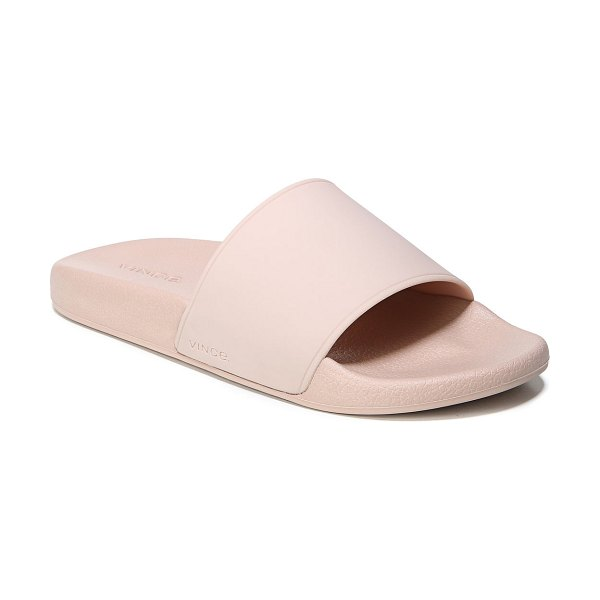 23d1ac46dc8 Vince West Coast Flat Pool Sandal in putty - Vince rubber pool sandal. Flat  heel