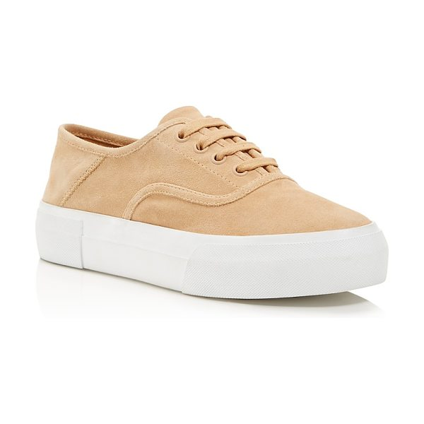 Vince Women's Copley Suede Lace Up Sneakers in rose - Vince Women's Copley Suede Lace Up Sneakers-Shoes