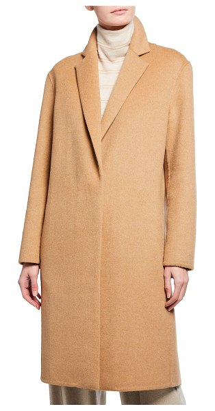 Vince Wool-Blend Single-Breasted Classic Coat in beige