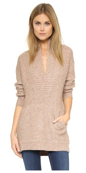 VINCE Zigzag stitch sweater - Zigzag stitching adds unique texture to this slouchy...