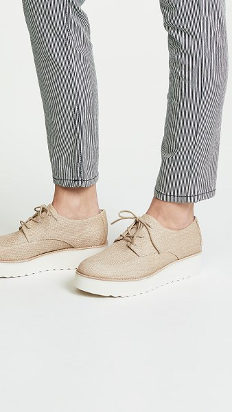 Vince zina platform oxfords in natural