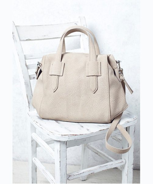 Violet Ray Becca tote in nude - Faux leather tote featuring allover tonal textured...