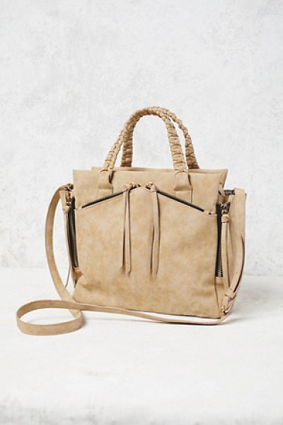 Violet Ray x Free People Holloway vegan tote in taupe