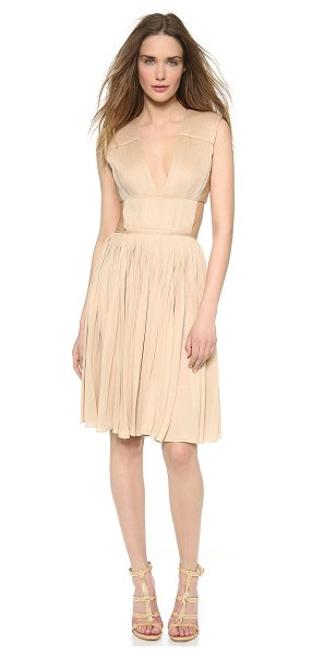 Vionnet Pleated jersey dress in venus nude - This sexy, understated Vionnet cocktail dress has an...
